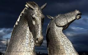Kelpie sculptures