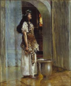 A Priestess of Apollo ?circa 1888 by Sir Lawrence Alma-Tadema 1836-1912